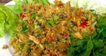 ปลาดุกฟูคั่วกลิ้ง อาหารไทย เมนูยำ