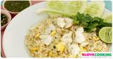 เมนูผัด ข้าวผัดปู อาหารจานเดียว อาหารไทย
