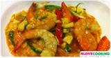 อาหารไทย เมนูไข่ กุ้งผัดไข่เค็ม เมนูผัด