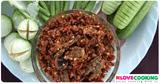 อาหารไทย น้ำพริกแมงดา สูตรน้ำพริก เมนนูน้ำพริก