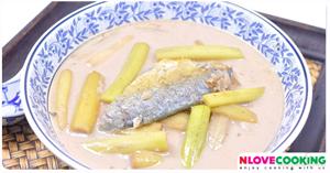 แกงกะทิสายบัว แกงกะทิสายบัวปลาทู อาหารไทย เมนูแกง