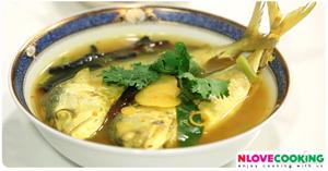 ปลาทูต้มขมิ้น อาหารไทย เมนูแกง เมนูปลา