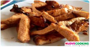 พวงนมหมูย่าง นมหมูย่าง อาหารไทย เมนูปิ้งย่าง