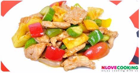 ผัดเปรี้ยวหวานหมู สูตรผัดเปรี้วยหวาน วิธีทำผัดเปรี้ยวหวาน เมนูหมู