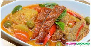 แกงเผ็ดเป็ดย่าง สูตรแกงเผ็ดเป็ดย่าง วิธีทำแกงเผ็ดเป็ดย่าง อาหารไทย