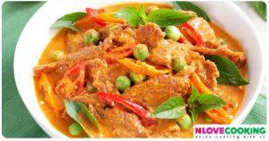 แกงพะแนงเนื้อ พะแนงเนื้อ อาหารไทย เมนูแกงกะทิ