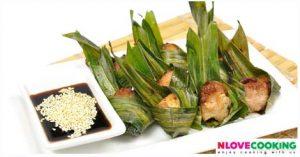 ไก่ห่อใบเตย ไก่ทอด เมนูทอด อาหารไทย