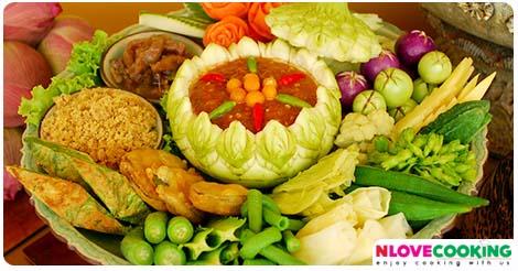 น้ำพริกลงเรือ สูตรอาหาร อาหารไทย เมนูอาหาร