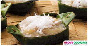 ขนมกล้วย ขนมกล้วยนึ่ง ขนมไทย สูตรอาหาร
