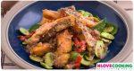 ปลากระพงผัดสะตอ อาหารไทย เมนูผัด อาหารใต้