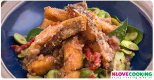 ผัดสะตอปลา ปลาผัดสะตอ อาหารไทย เมนูปลา