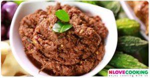 น้ำพริกปลาร้าทรงเครื่อง อาหารไทย อาหารพื้นบ้าน น้ำพริก