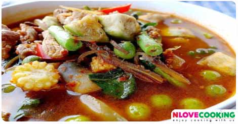 แกงป่าหมู อาหารไทย เมนูแกง อาหารพื้นบ้าน