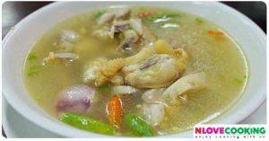 ไก่ต้มระกำ ไก่บ้านต้มระกำ อาหารไทย อาหารพื้นบ้าน