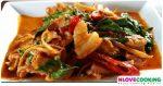 ผัดเผ็ดหมูป่า หมูป่าผัดเผ็ด อาหารไทย เมนูหมู