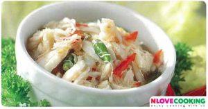 น้ำพริกปูม้า อาหารไทย น้ำพริก เมนูปู