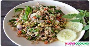 ลาบปลาบึก ลาบปลา เมนูปลา อาหารไทย