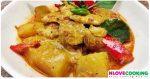 แกงเผ็ดไก่ แกงเผ็ดฟักทอง อาหารไทย เมนูแกงกะทิ