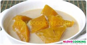 แกงบวดฟักทอง ขนมไทย ขนมหวาน เมนูกะทิ