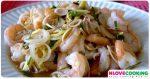 ยำกุ้ง แสร้งว่ากุ้ง อาหารไทย อาหารชาววัง