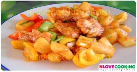 ไก่ผัดเปรี้ยวหวาน ผัดเปรี้ยวหวานไก่ อาหารไทย เมนูผัด