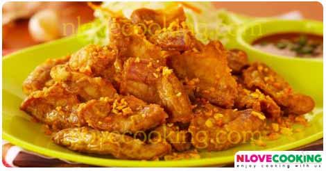 ไส้อ่อนทอดกระเทียมพริกไทย เมนูทอด เมนูไส้อ่อน อาหารไทย