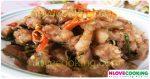 หมูสามชั้นผัดกะปิ อาหารไทย สูตรอาหาร เมนูอาหาร