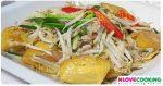 ผัดถั่วงอกเต้าหู้หมูสับ อาหารไทย เมนูผัด เมนูหมูสับ