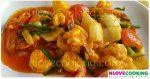 ผัดไข่เค็มกุ้ง สูตรอาหาร อาหารไทย เมนูผัด