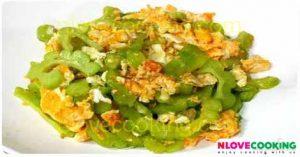 มะระผัดไข่เค็ม เมนูผัด เมนูไข่เค็ม อาหารไทย