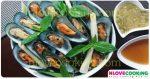 หอยแมลงภู่อบสมุนไพร เมนูหอย อาหารทะเล อาหารไทย