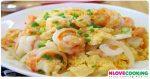 ไข่คั่วกุ้ง กุ้งผัดไข่ ไข่ผัดกุ้ง สูตรอาหาร