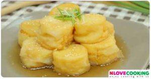 เต้าหู้้ไข่ทอดราดซอส เมนูเต้าหู้ไข่ เมนูทอด อาหารไทย