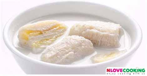 กล้วยบวชชี ขนมหวาน ขนมไทย เมนูกล้วย