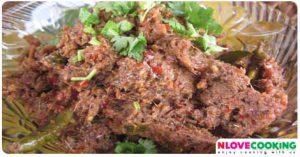 น้ำพริกปลาร้าผัด อาหารไทย เมนูน้ำพริก