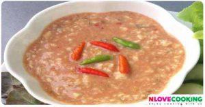 น้ำพริกเต้าหู้ยี้ อาหารไทย น้ำพริก สูตรอาหาร