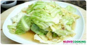 กะหล่ำปลีทอดน้ำปลา อาหารไทย เมนูผัด อาหารจีน