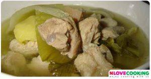 ขาหมูต้มผักกาดดอง อาหารไทย เมนูหมู เมนูแกง