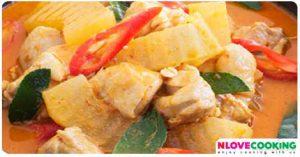 แกงคั่วฟักไก่ อาหารไทย เมนูแกง เมนูไก่