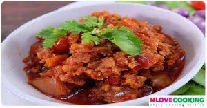 น้ำพริกอ่อง อาหารไทย เมนูน้ำพริก
